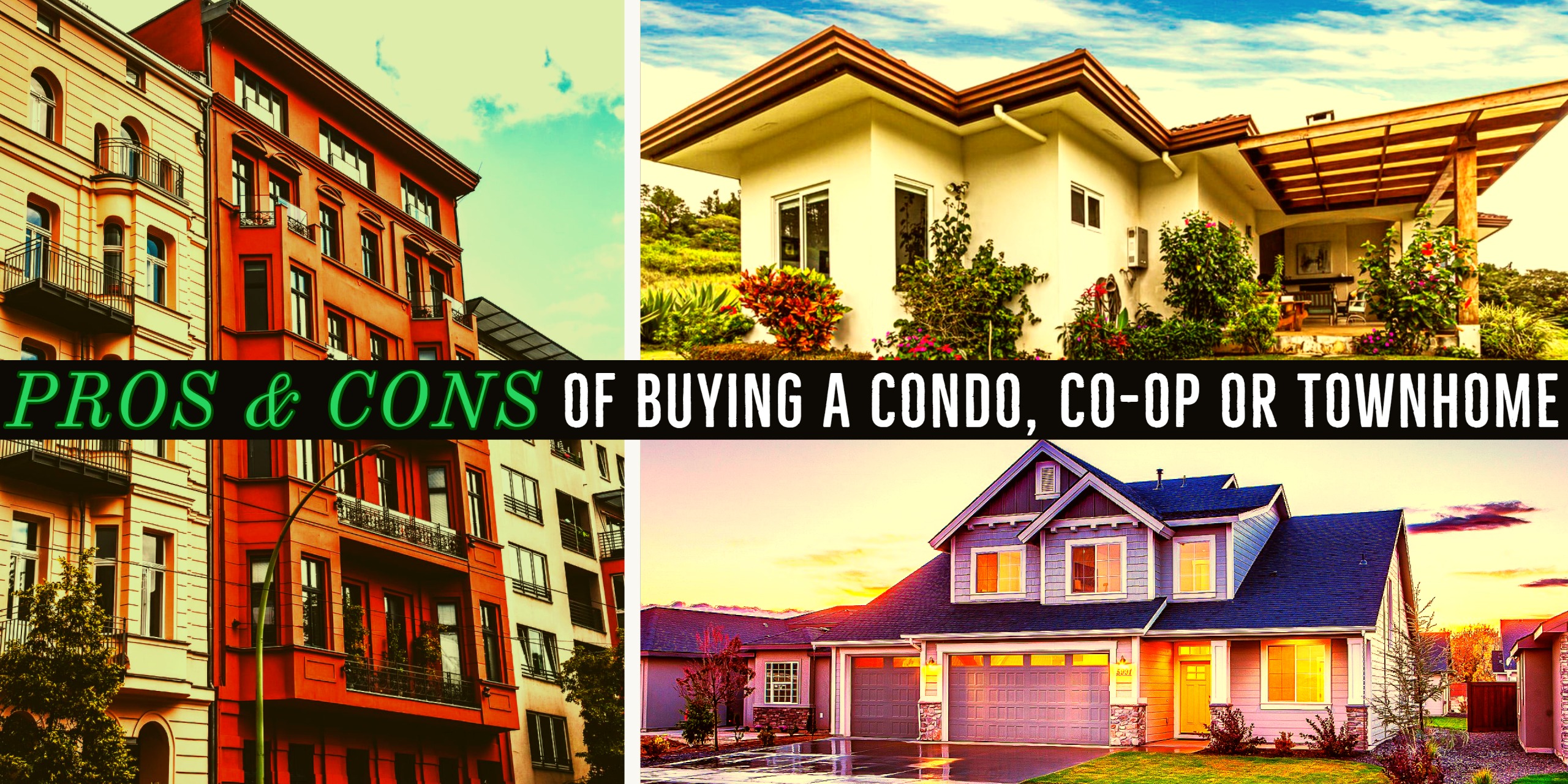 Pros & cons of buying a condo, co-op or townhome