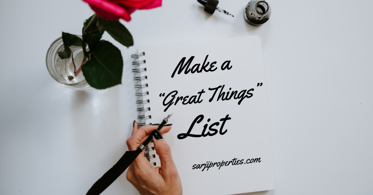 Make a Real Estate shopping list